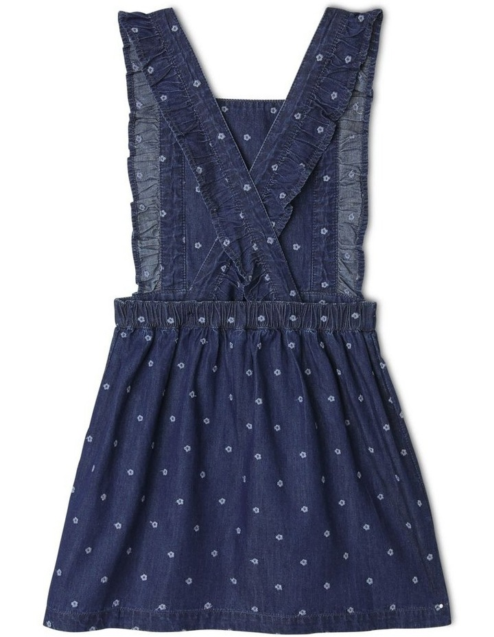 Floral Embroidered Denim Pinafore image 2