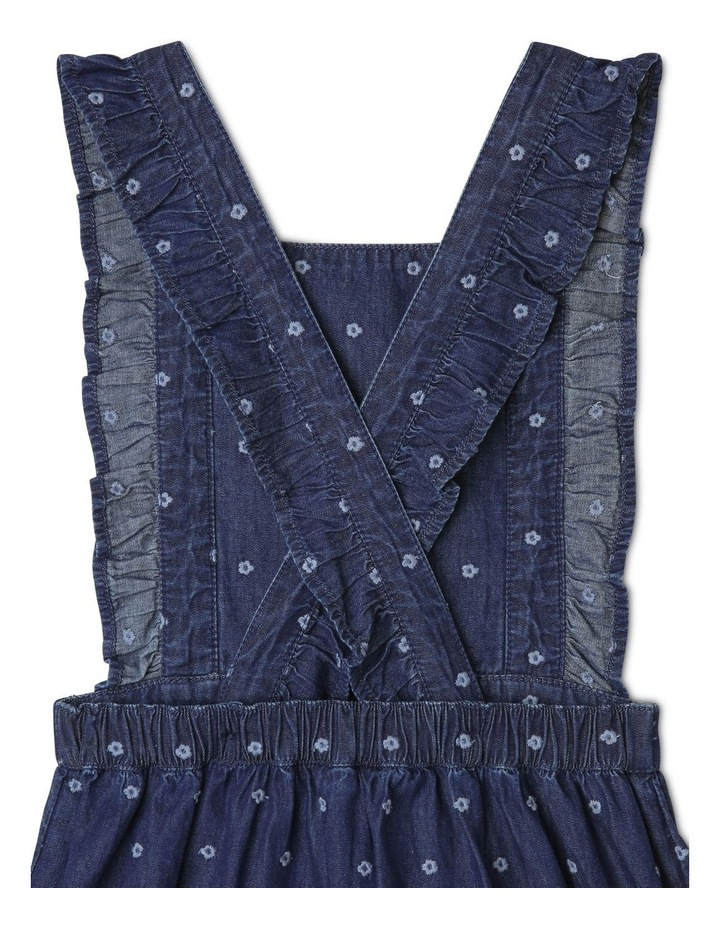 Floral Embroidered Denim Pinafore image 4