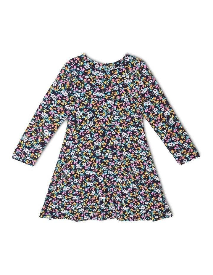 Long-Sleeve Knitted Skater Dress image 1