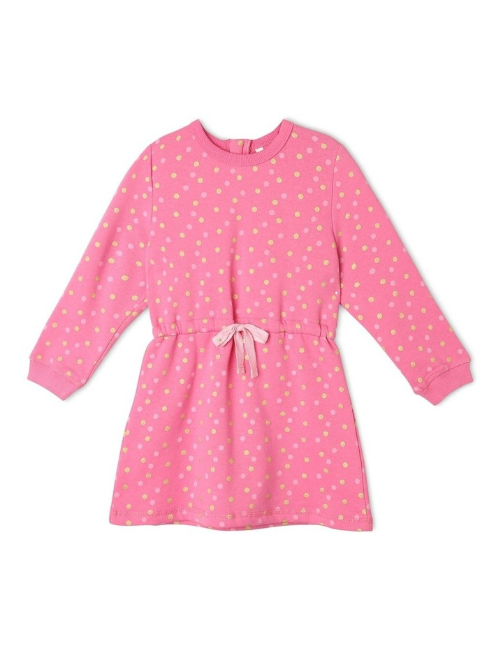 French Terry Polkadot Dress image 1