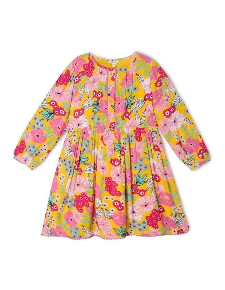 Woven Long Sleeve Dress image 1