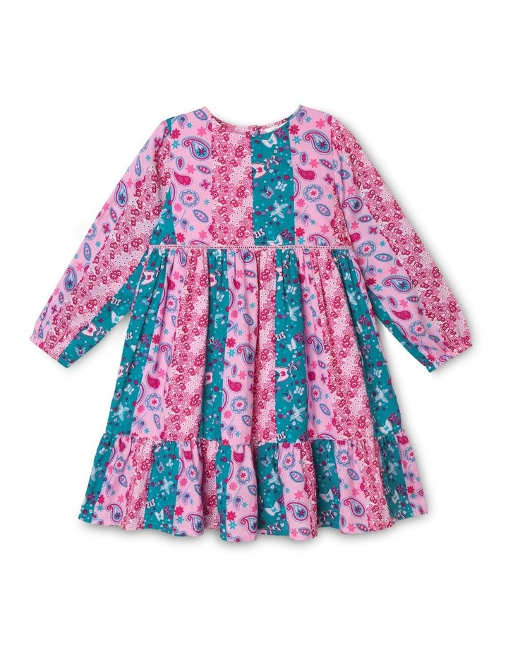 Woven Long Sleeve Tiered Dress image 1