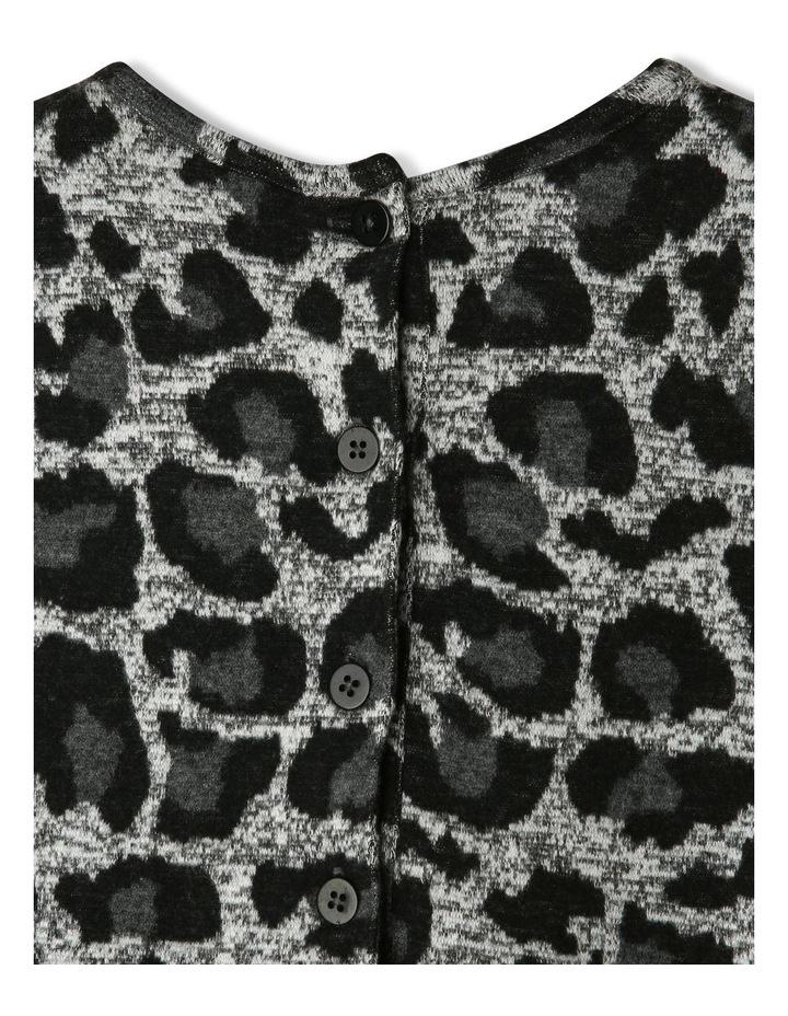 Leopard Print Jacquard Dress image 4