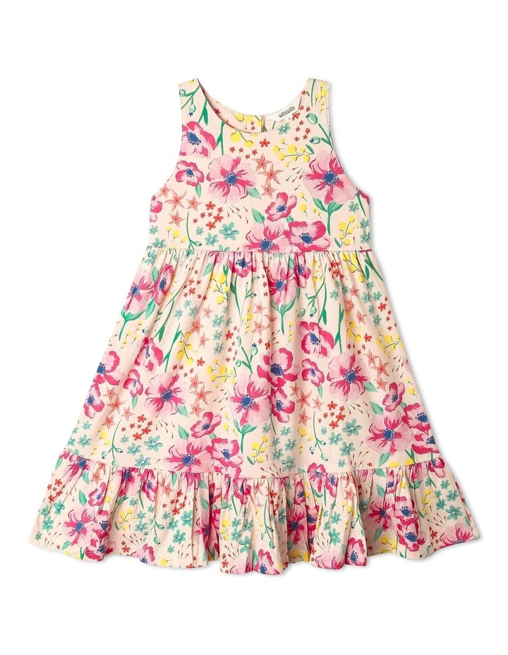 Babydoll Dress with Gathered Skirt in Floral image 1