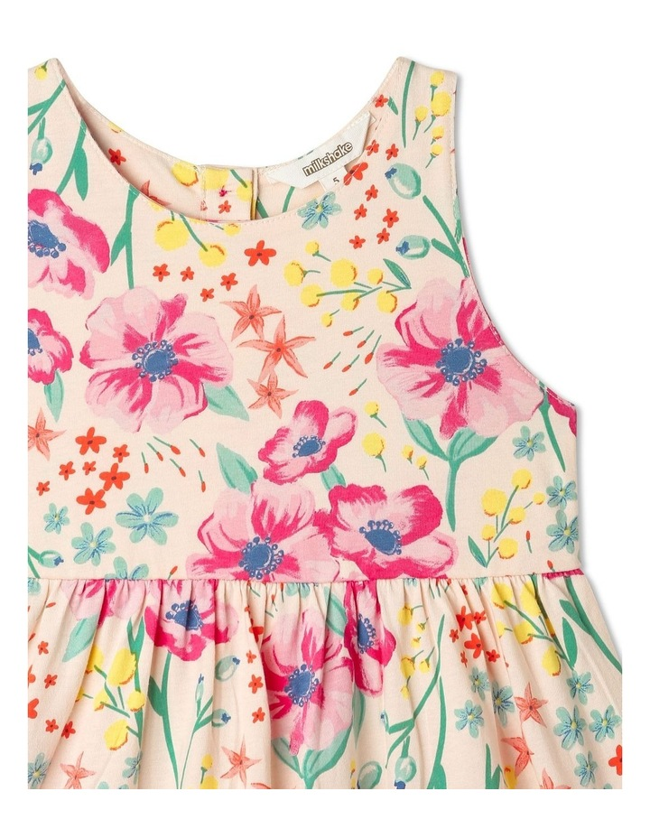 Babydoll Dress with Gathered Skirt in Floral image 2