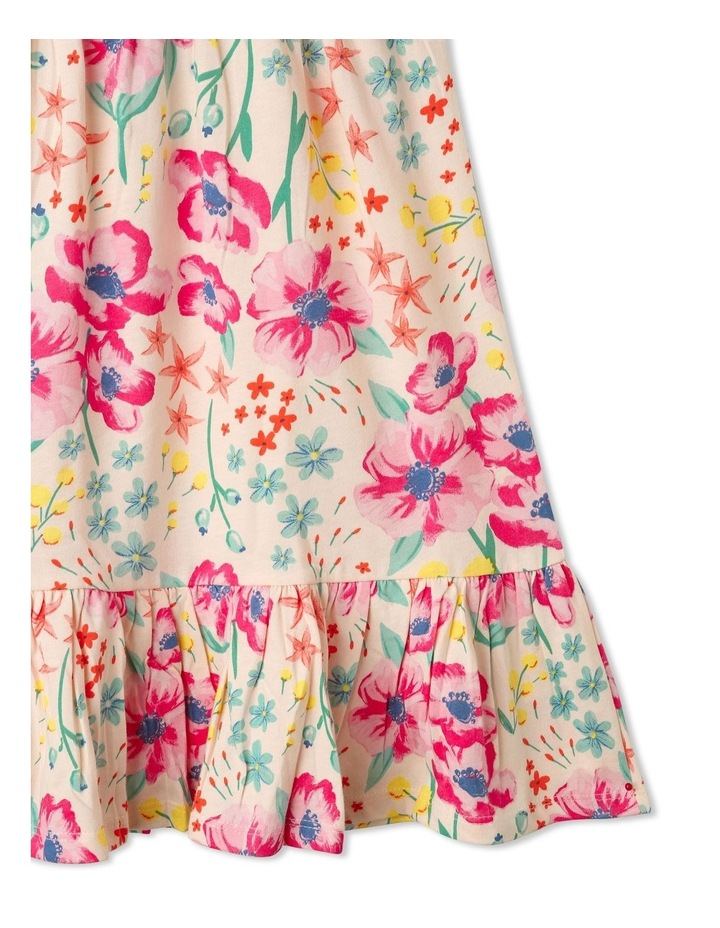 Babydoll Dress with Gathered Skirt in Floral image 3