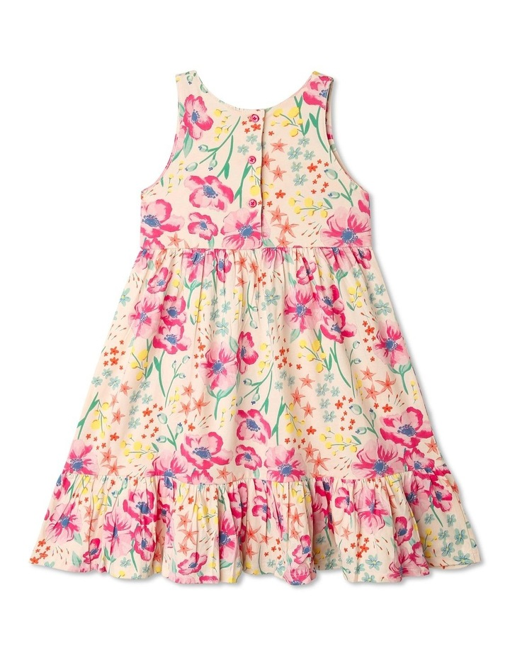 Babydoll Dress with Gathered Skirt in Floral image 4