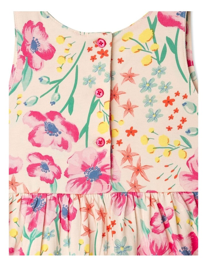 Babydoll Dress with Gathered Skirt in Floral image 5