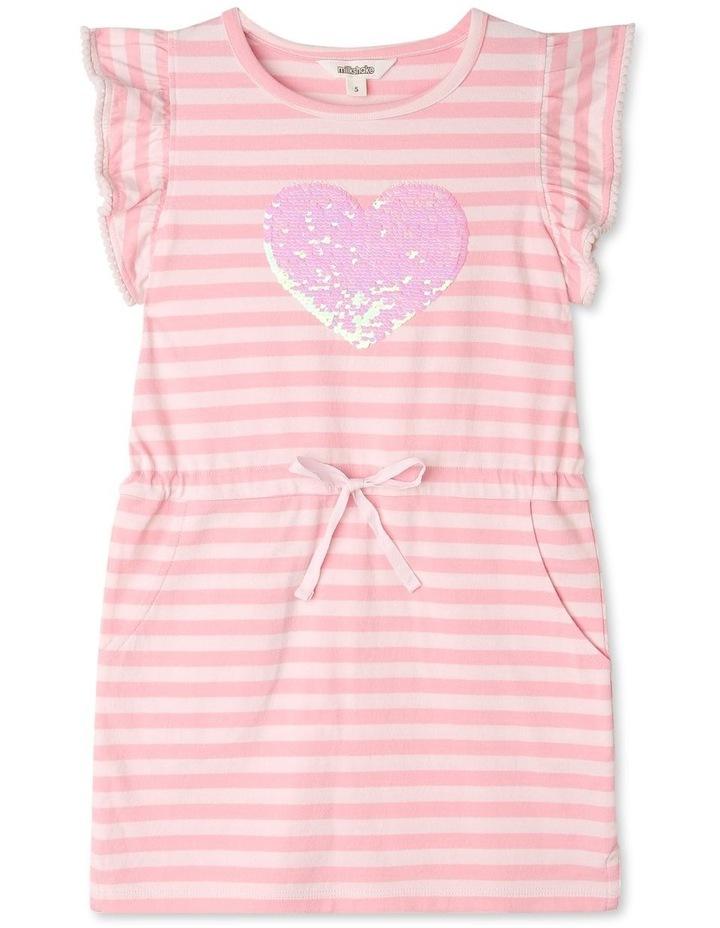 Stripe Flutter Sleeve Dress image 1