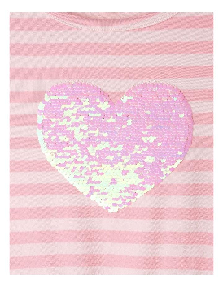 Stripe Flutter Sleeve Dress image 3