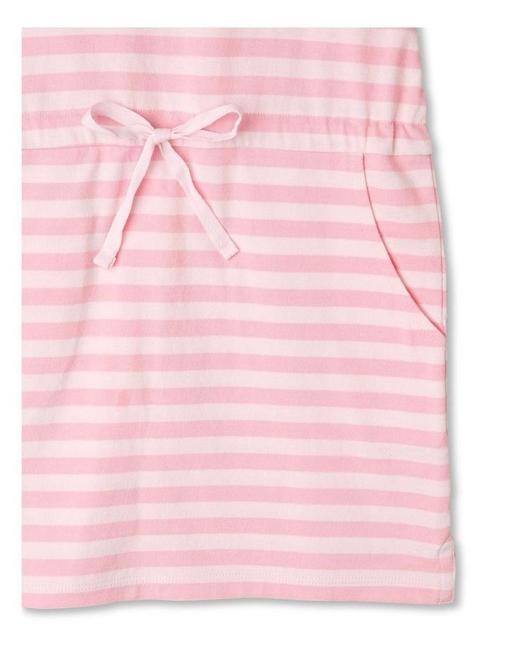 Stripe Flutter Sleeve Dress image 5