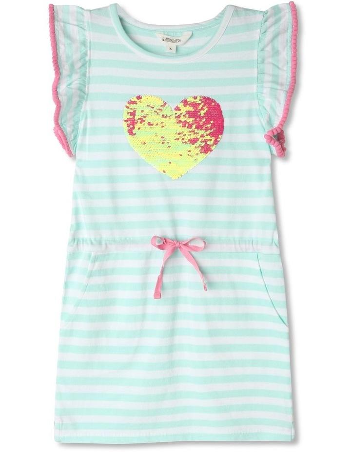 Flutter-Sleeve Stripe Dress image 1