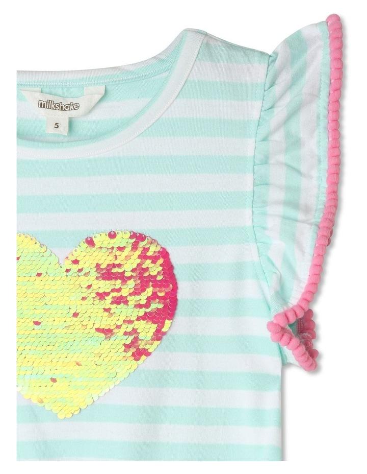 Flutter-Sleeve Stripe Dress image 2