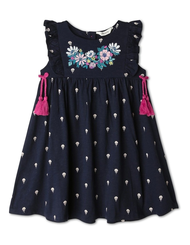 Jersey Dress with Tassels image 1