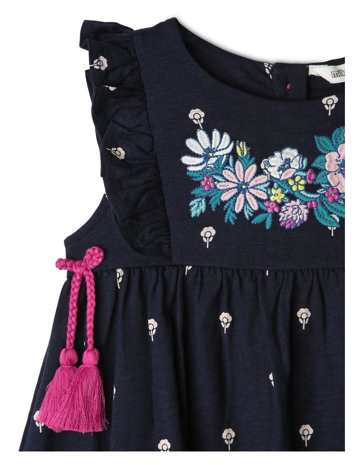 Jersey Dress with Tassels image 2