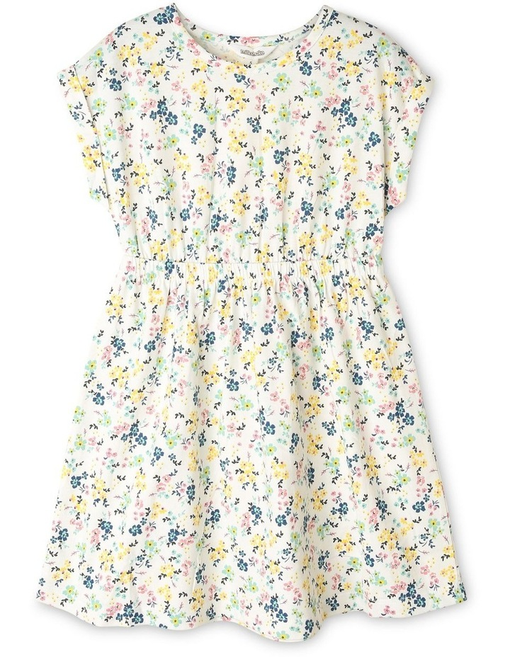 Floral Knit Dress with Open Back image 1