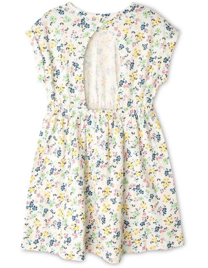 Floral Knit Dress with Open Back image 2