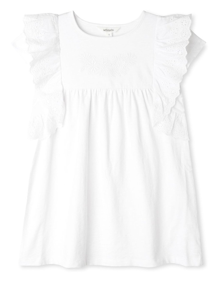 Knit Dress with Broderie Trim image 1