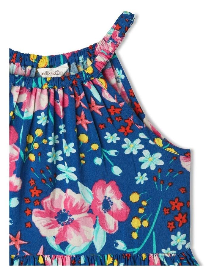 Floral Halter Dress with Scalloped Hem image 2