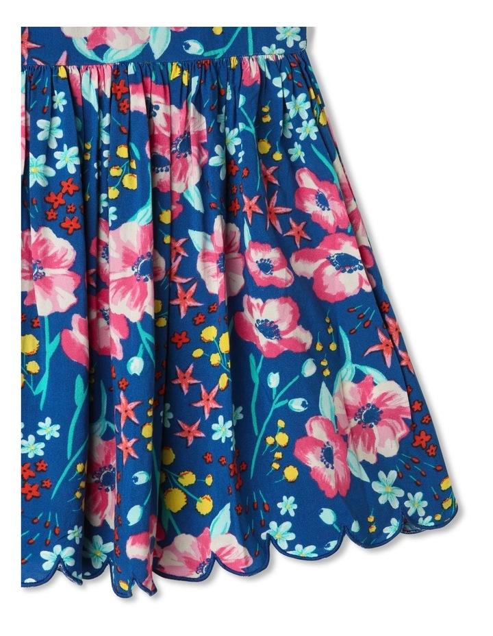 Floral Halter Dress with Scalloped Hem image 3