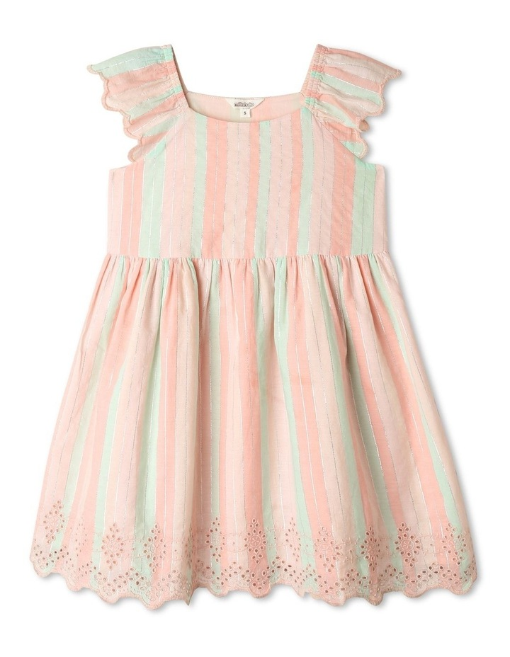 Yarn-Dye Striped Dress With Broderie Anglaise Hem image 1