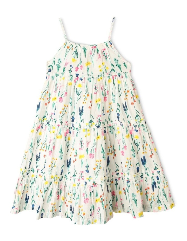 Woven Floral Dress with Pintuck Detail image 1