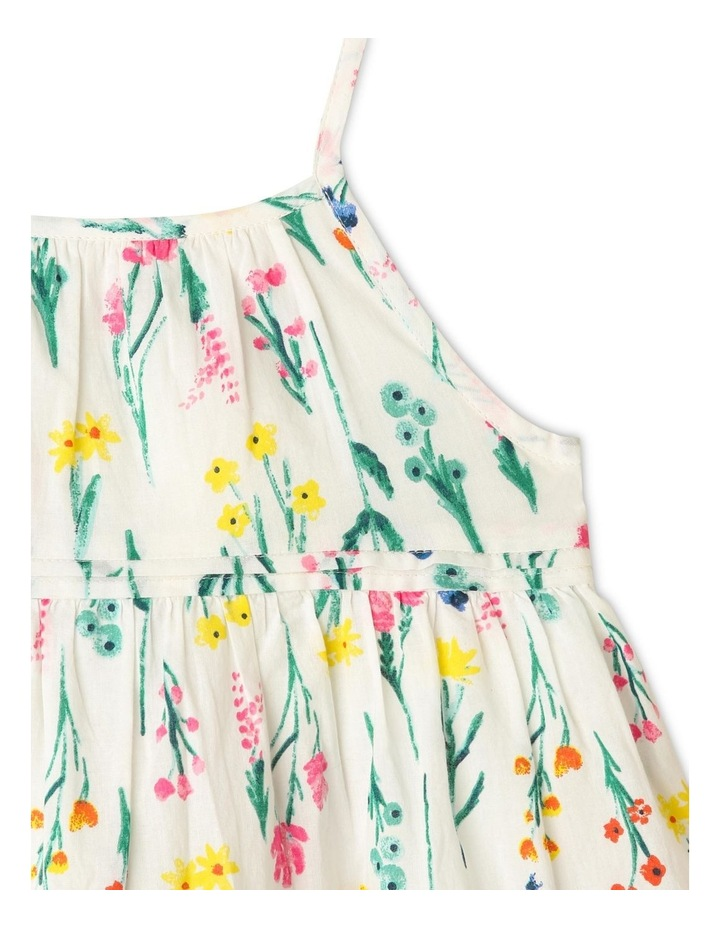 Woven Floral Dress with Pintuck Detail image 2