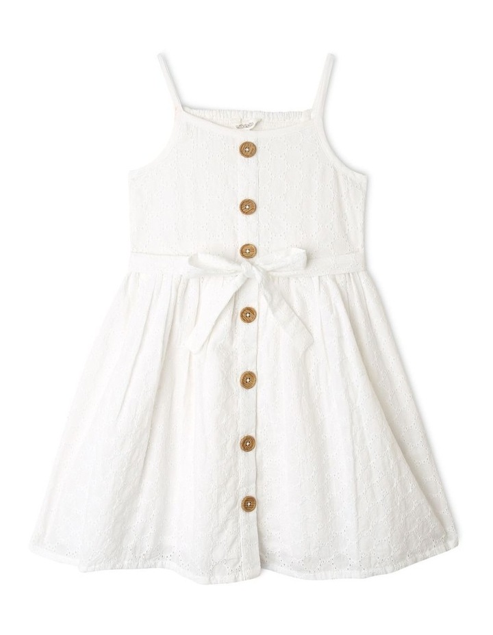 Sleeveless Broderie Dress image 1