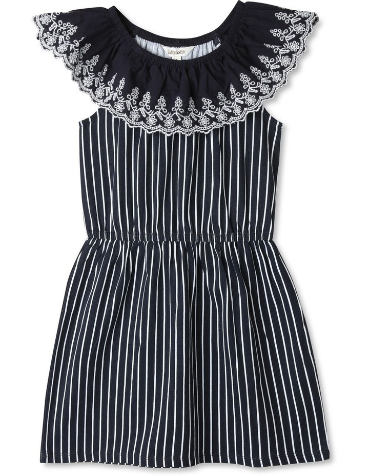 Broderie Ruffle Neck Dress image 1