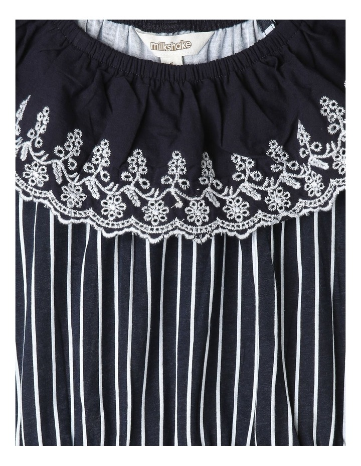 Broderie Ruffle Neck Dress image 2