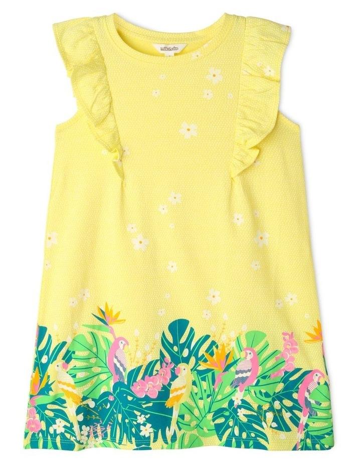 A-Line Flutter-Sleeve Dress image 1