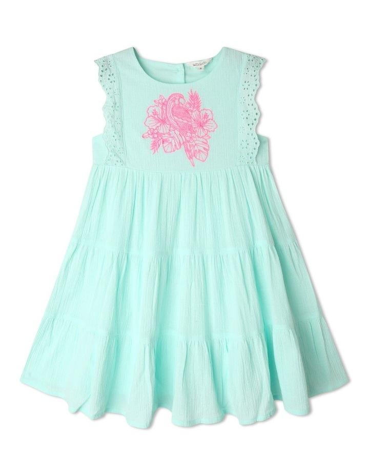 Woven Sleeveless Lace Trim Dress image 1