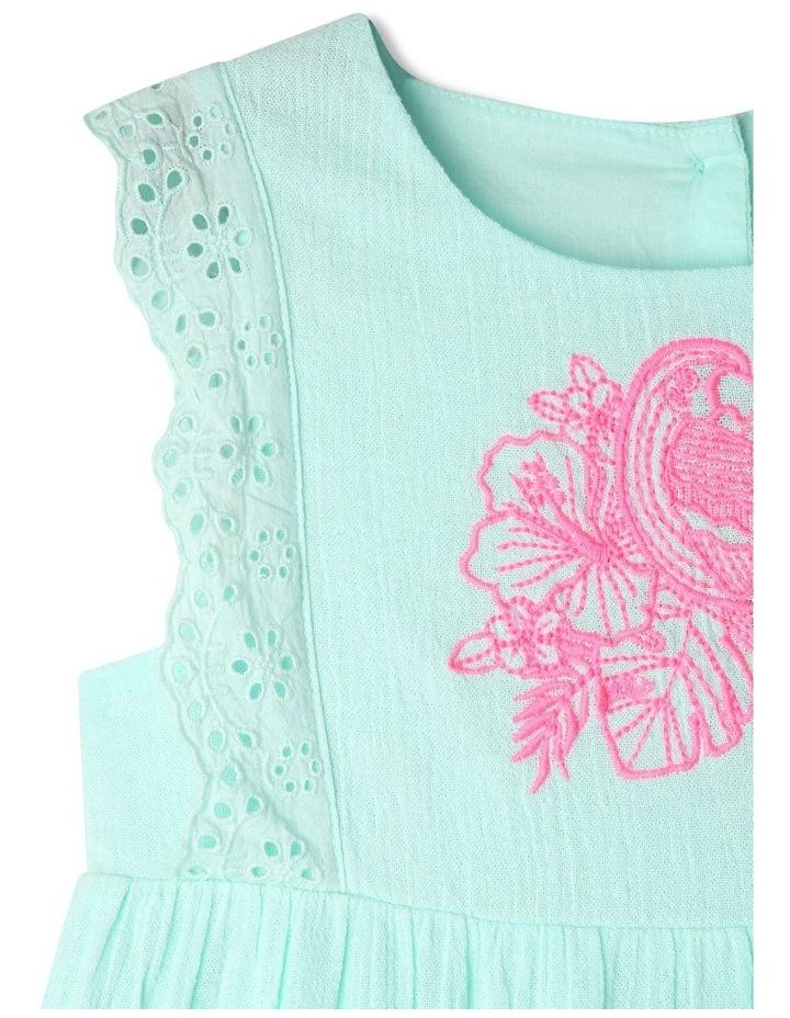 Woven Sleeveless Lace Trim Dress image 2