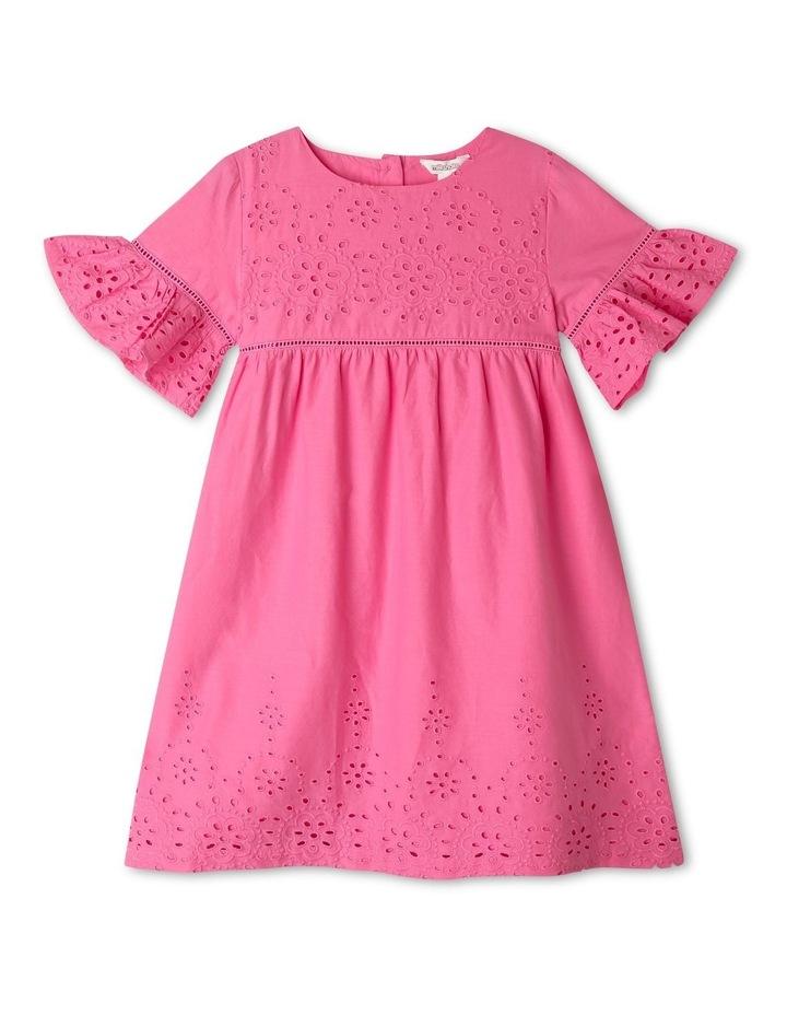 Woven Bell-Sleeve Dress image 1