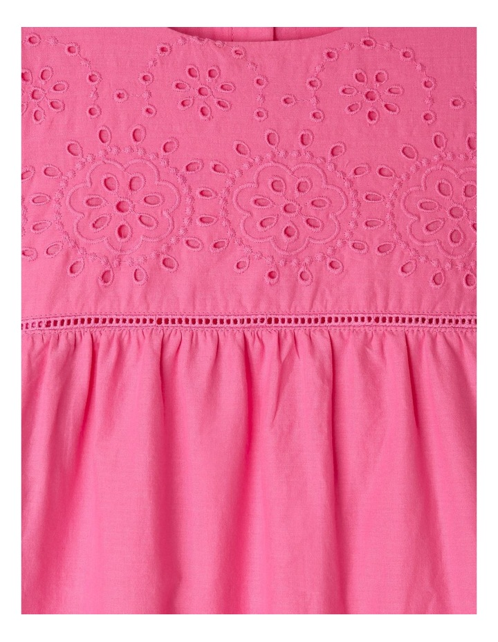 Woven Bell-Sleeve Dress image 3