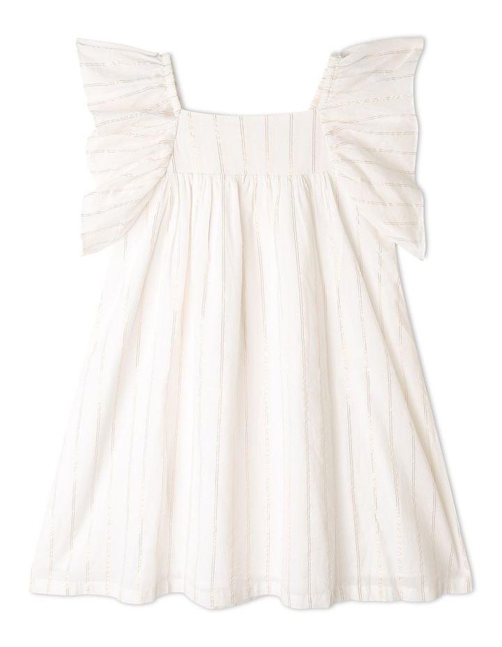 Woven Lurex Stripe Dress image 1