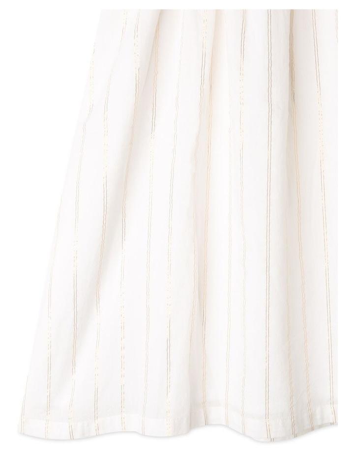 Woven Lurex Stripe Dress image 3