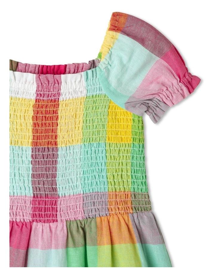 Puff-Sleeve Check Dress image 2