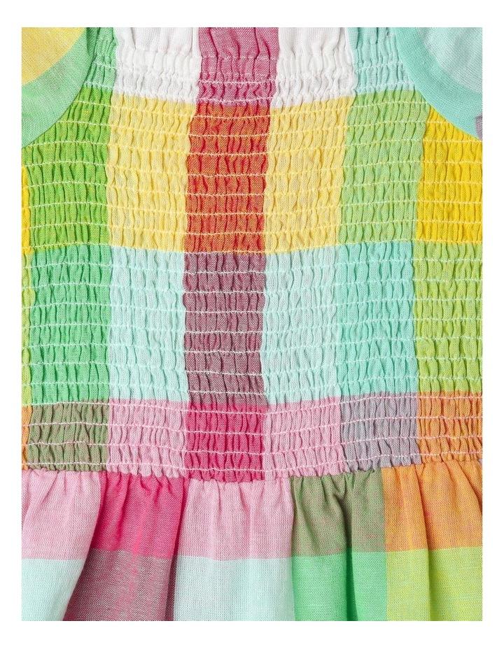 Puff-Sleeve Check Dress image 3