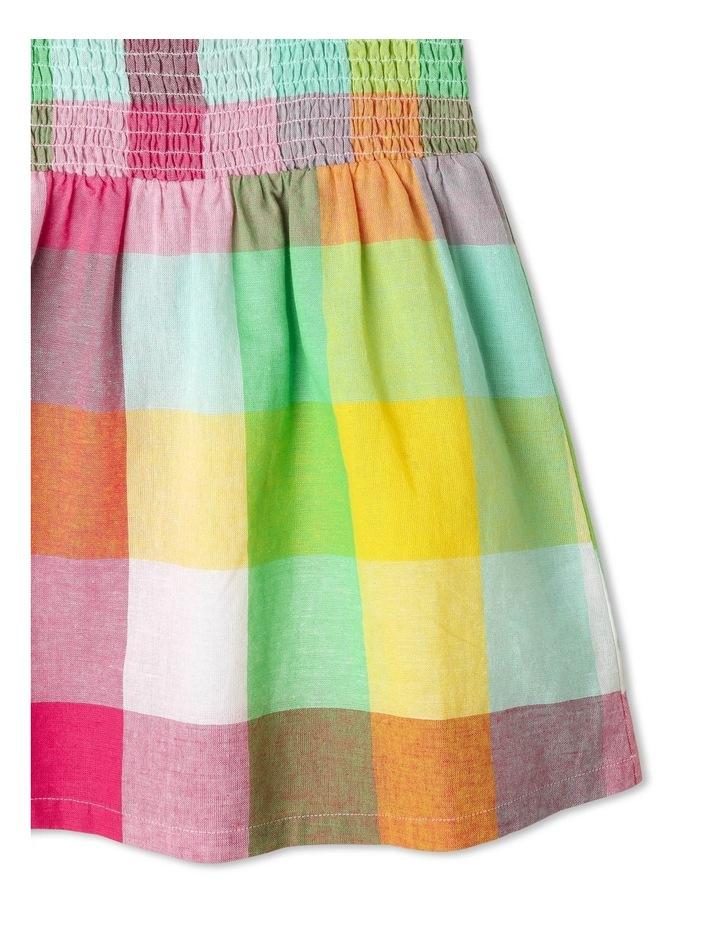 Puff-Sleeve Check Dress image 4