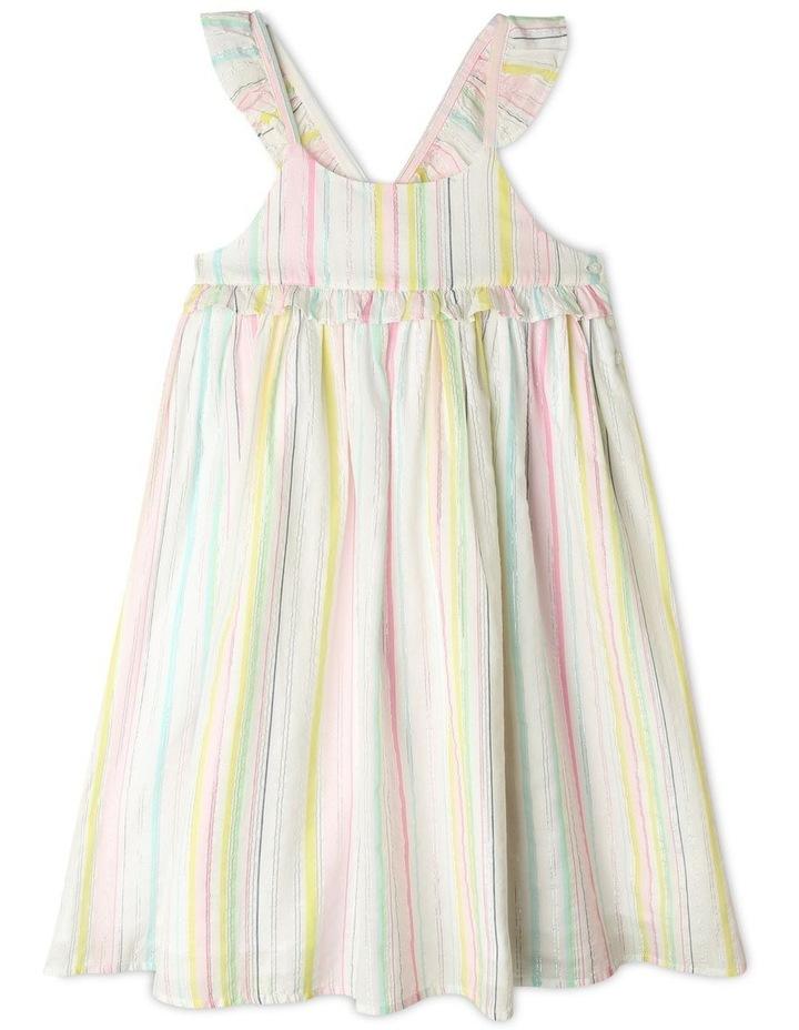 Lurex Stripe Ruffle Dress image 1