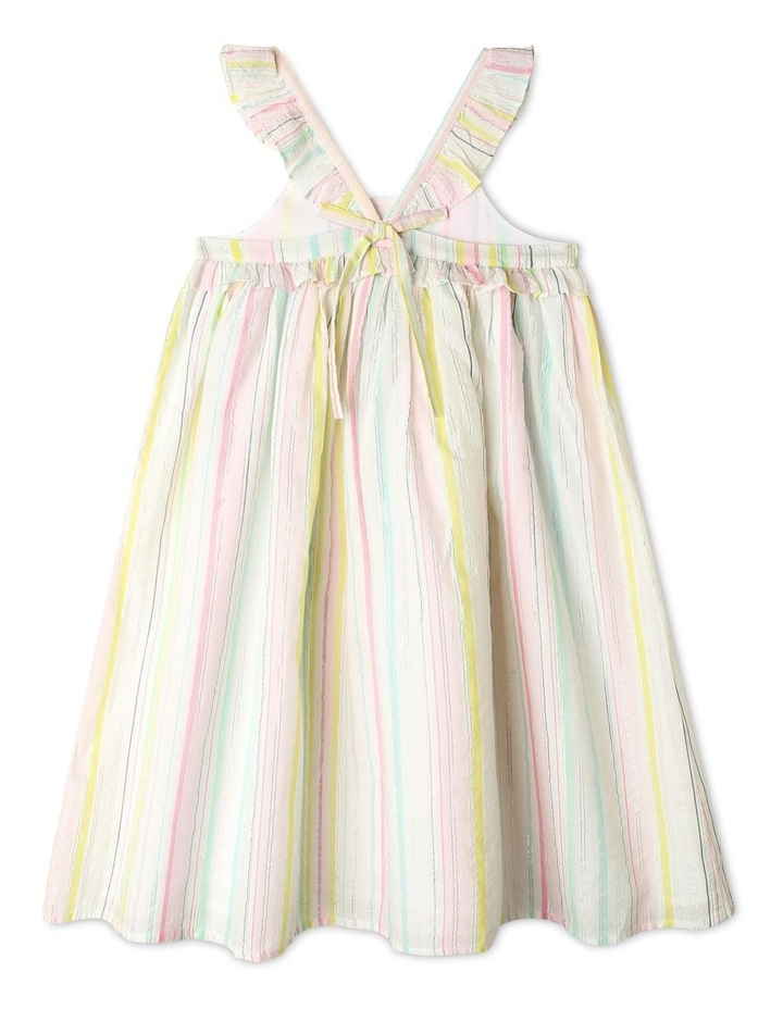 Lurex Stripe Ruffle Dress image 2