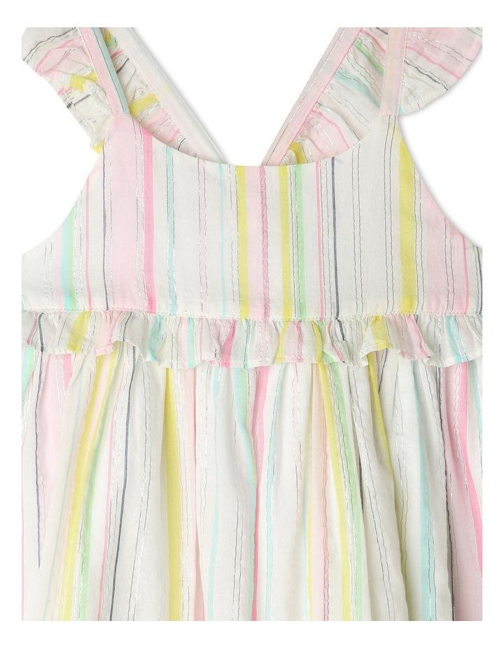 Lurex Stripe Ruffle Dress image 3