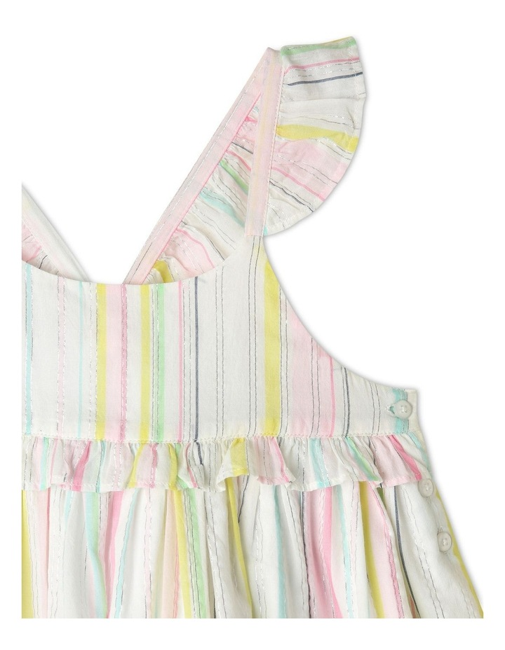 Lurex Stripe Ruffle Dress image 4