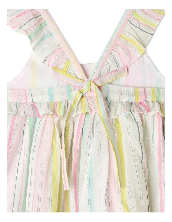Lurex Stripe Ruffle Dress image 5
