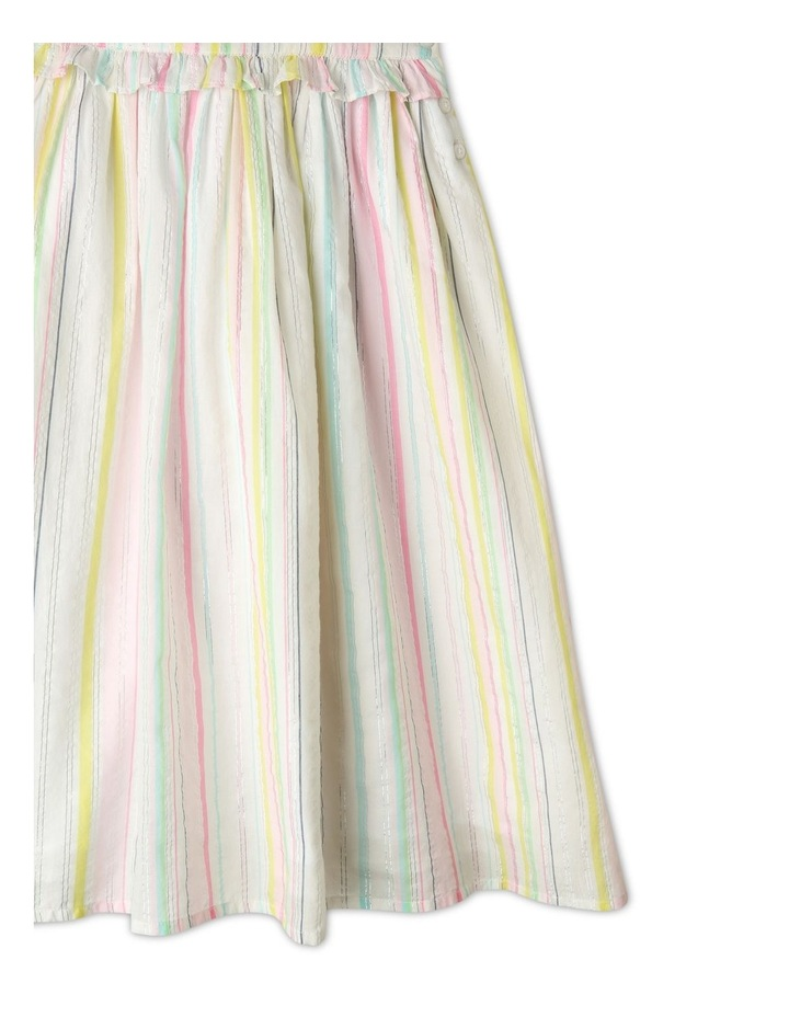 Lurex Stripe Ruffle Dress image 6
