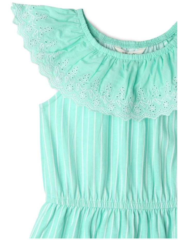 Broderie Ruffle Neck Dress image 3