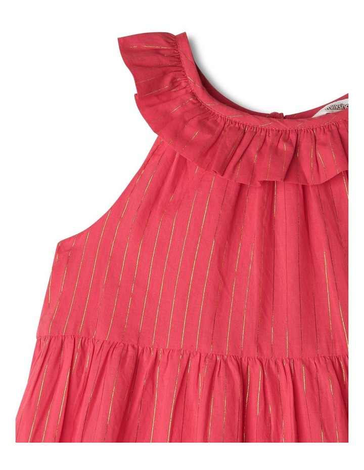 Woven Dobby Frill Neck Dress image 2