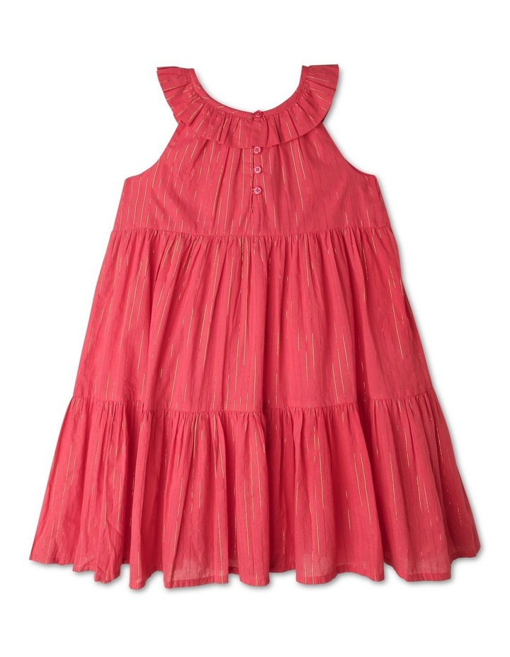 Woven Dobby Frill Neck Dress image 3