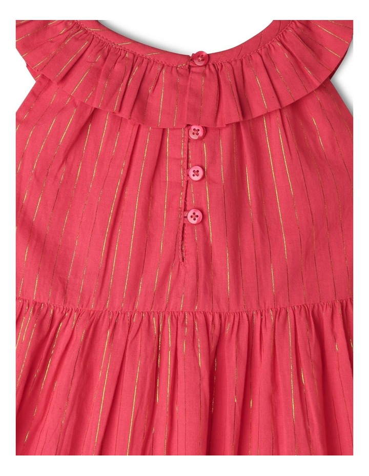 Woven Dobby Frill Neck Dress image 4